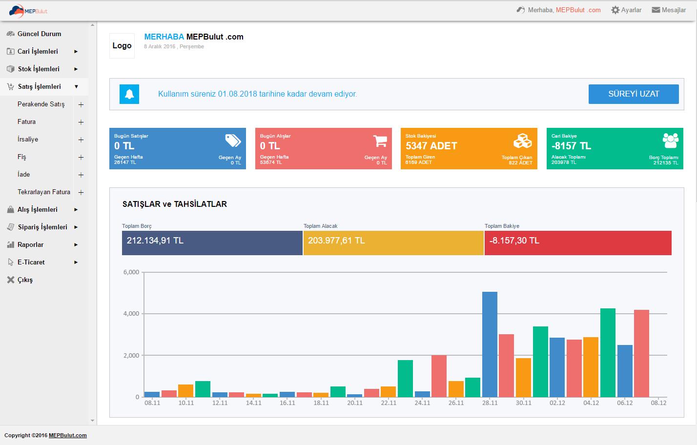 Yeni Güncelleme - MEPBulut V3.2.0 Yayınlandı.